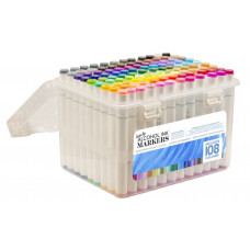 Couture Creations - Twin Tip Markers - 108 Colours In A Case